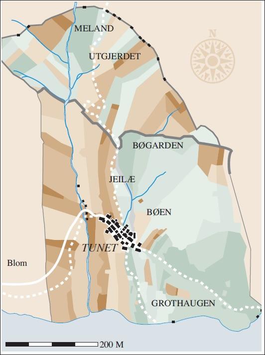 Kart over teigdelinga på Havrå kring 1906