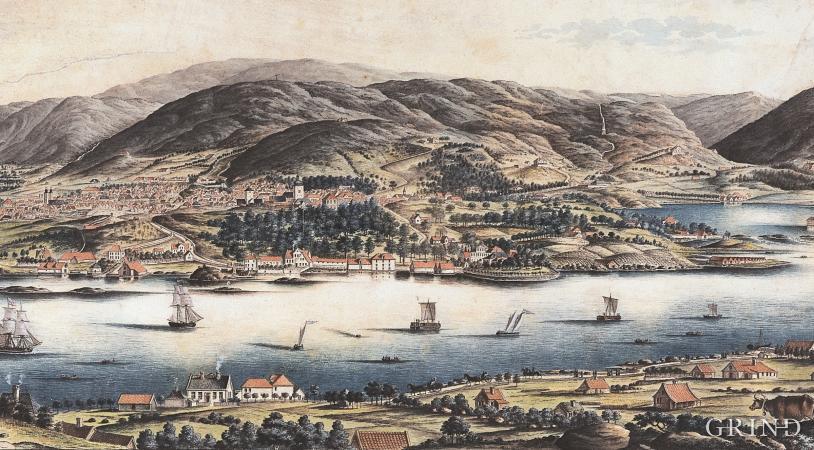 Hordaland, 200 år siden, av J.F.L Dreier.