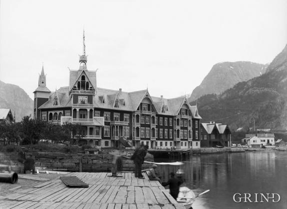 Det andre Hotel Hardanger i Odda vart bygd i 1896
