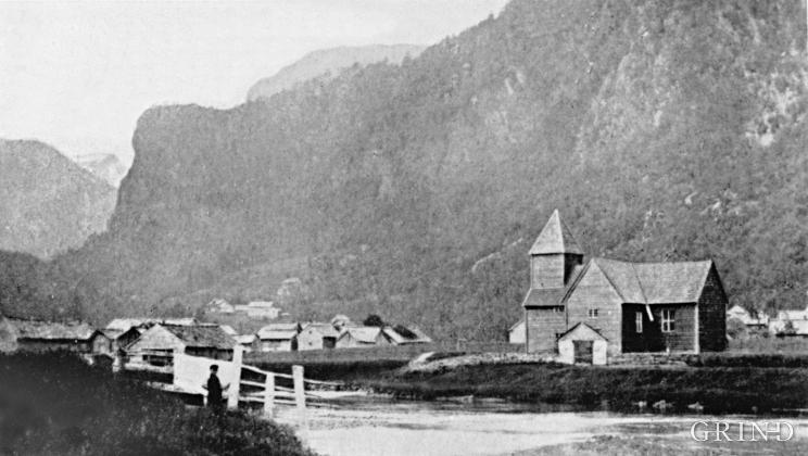 Den gamle kirken i Strandebarm