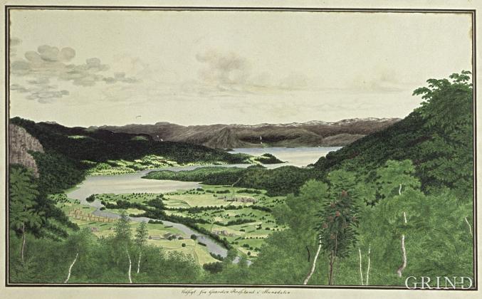 Steinsdalen i Kvam i Catharina Kølles strek