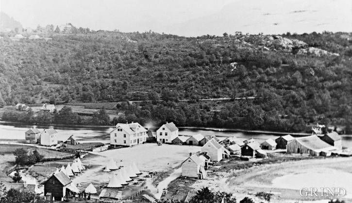 Fram til 1870-åra var Osøyro militær øvingsplass
