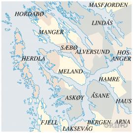 Kart over endringar av kommunegrenser
