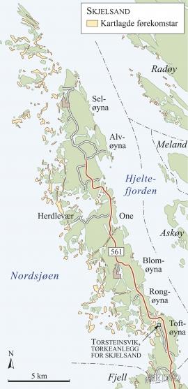 Kartlagde skjelsandforekomstar i Øygarden.