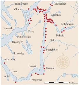 Like etter 1900 stod sitjenøtene tett kring heile Osterøyi og oppi straumane