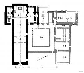 Planteikning til Lyse kloster, Os