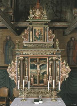 Altertavla i Hamre kyrkje