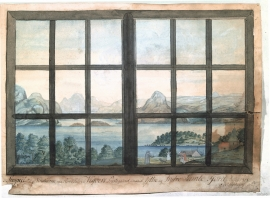 Akvarell av Nils Hertzberg