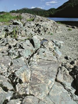 Grønstein ved Hetleflotvatnet