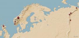 Utbredelse av norsk malurt i Nord-Europa – og i verden
