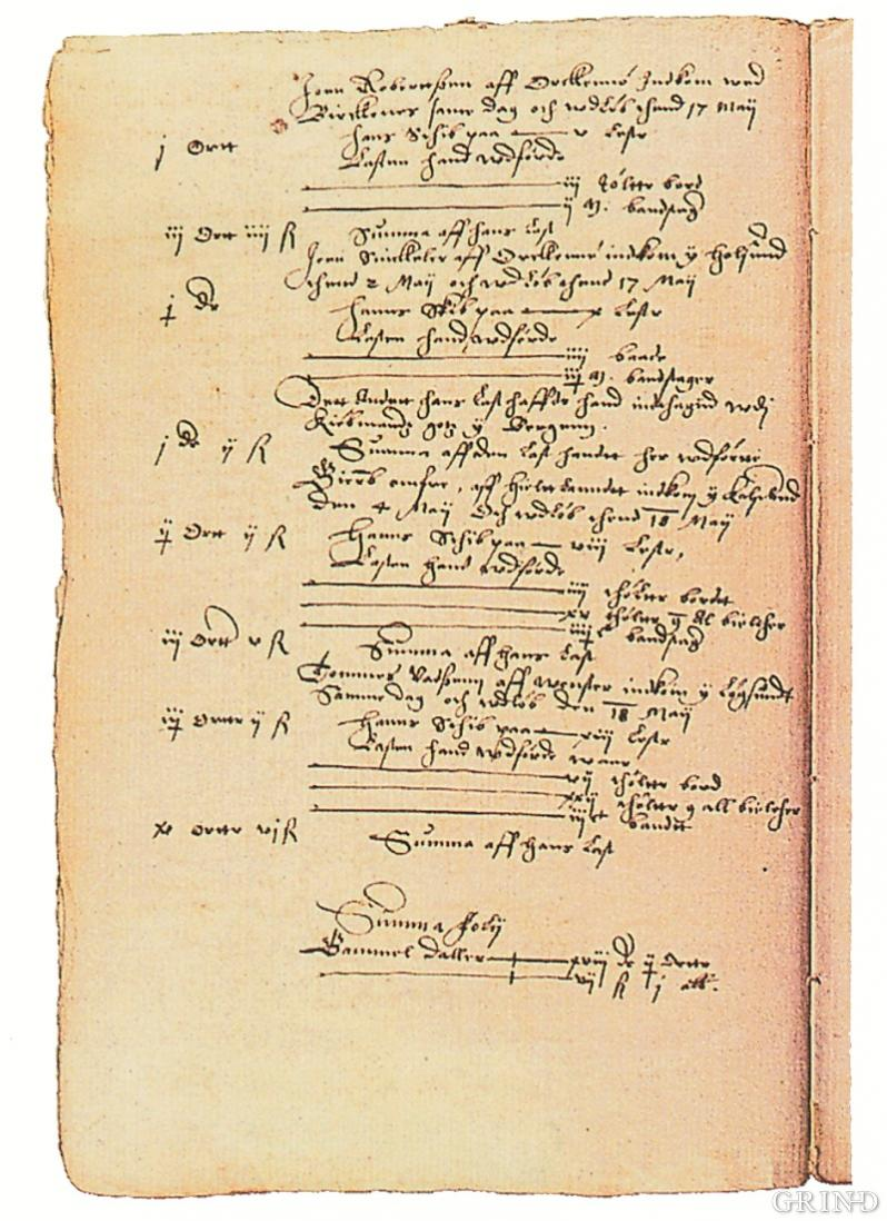 Tollregnskap for Sunnhordland 1597-98
