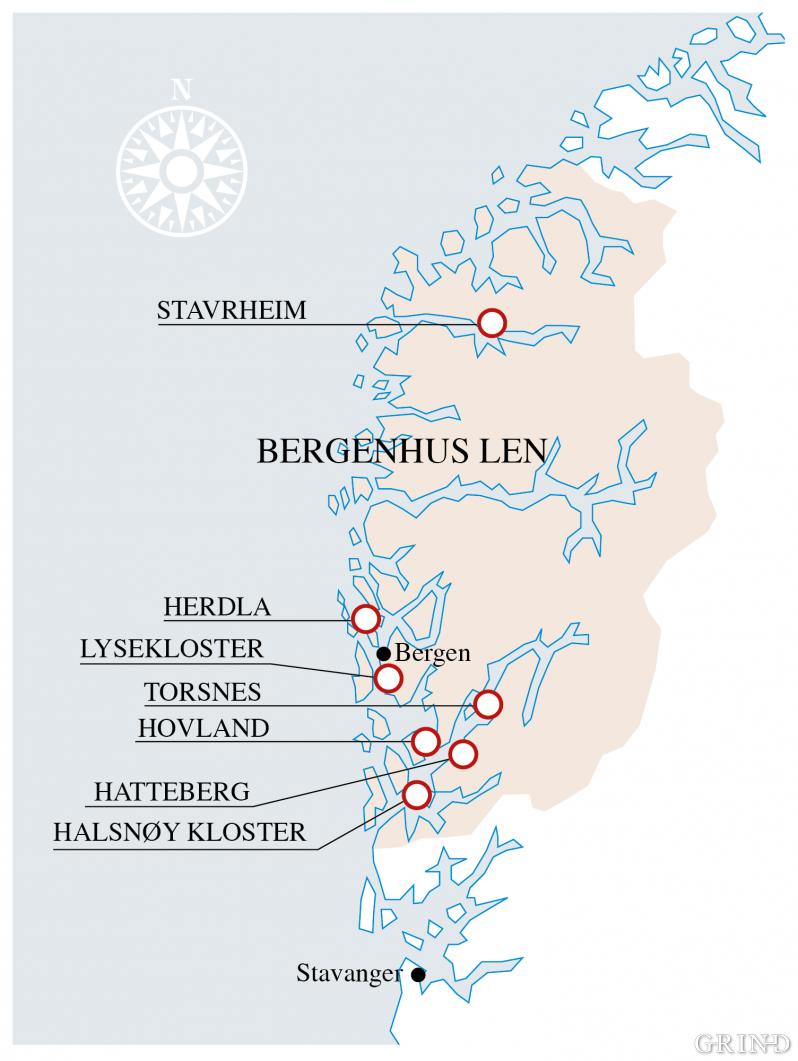 Bergenhus hovudlen kring midten av 1600-talet