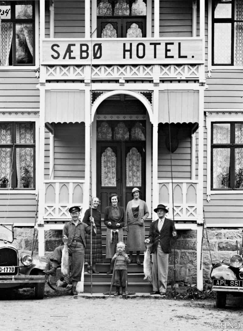Salmon fishing was a great attraction at Sæbø Hotel