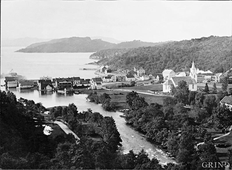 I 1890 var Osøyro ein liten strandstad
