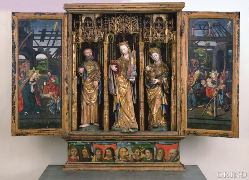 Seinmiddelalderlig alterskap fra Austevoll Kirke