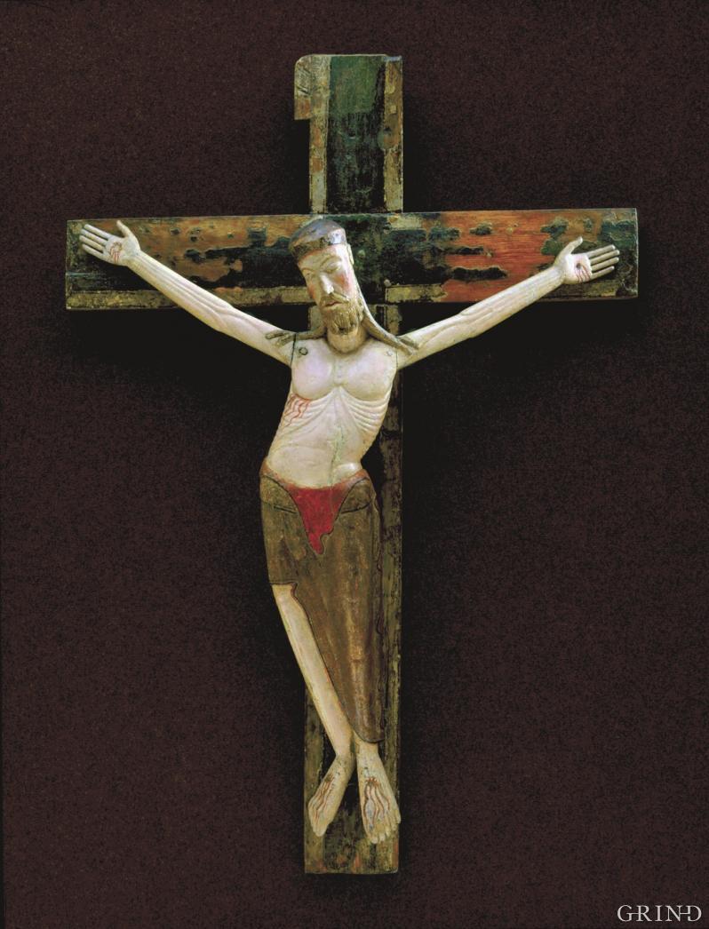Triumfkrusifikset fra Jondal Kirke (UM) omkring 1200