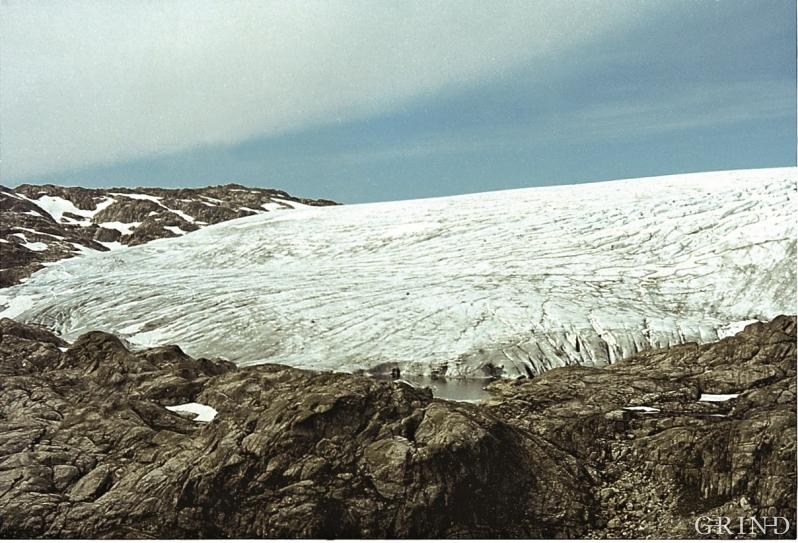 Blomstølsskarbreen fotografert i 1971