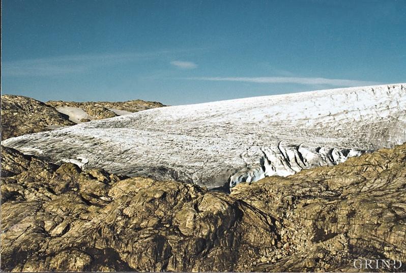 Blomstølsskarbreen fotografert i 1996