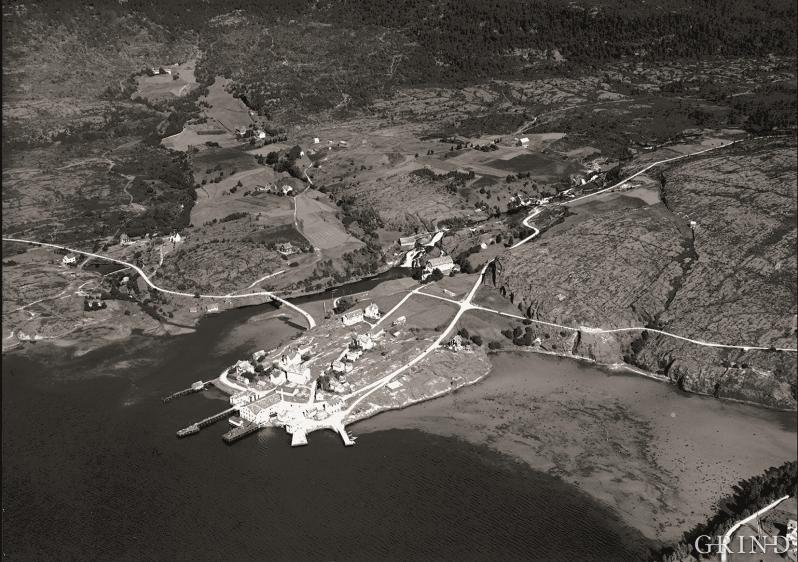 Flyfoto frå Eikelandsosen