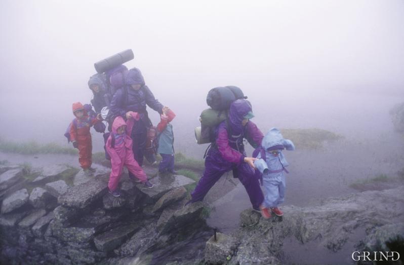 Over Vidden i Bergen i regnvêr