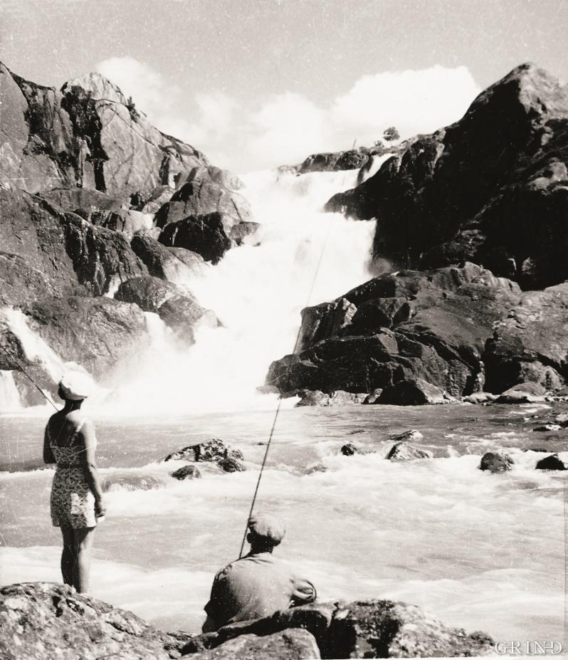 Fossen ved Bjødnabølet i Blådalsvassdraget
