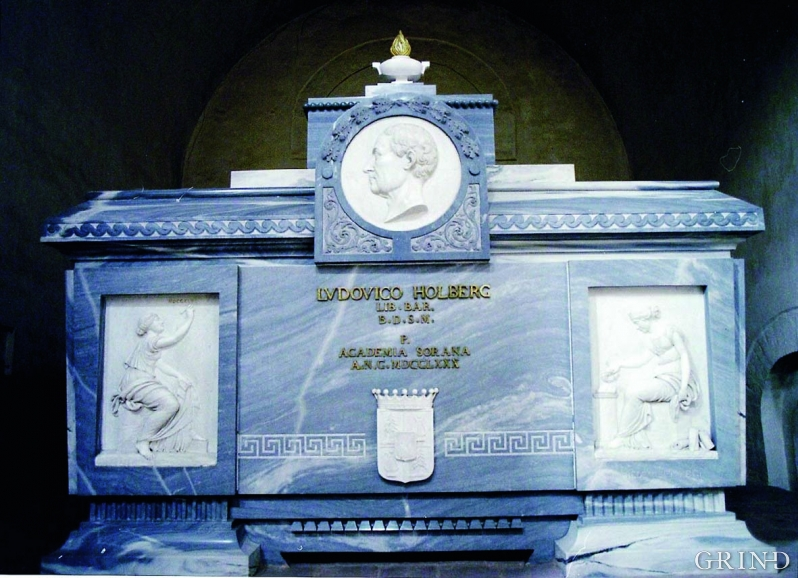 Ludvig Holbergs sarkofag i Sorø, Danmark.